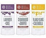 Schmidt's Deodorant Stick Variety Pack (Lavender & Sage, Cedarwood & Juniper, Ylang-Ylang & Calendula)