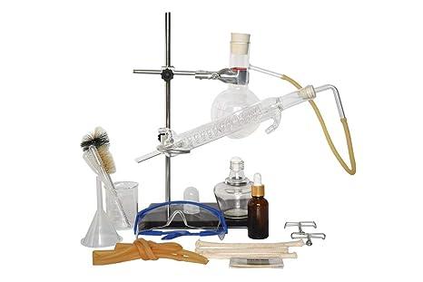 Moonshine - Kit profesional de destilación de cristal para destilación de aceites esenciales, purificador de agua para hacer tu propio aceite esencial, 150 ml, Snake Condenser, 16: Amazon.es: Industria, empresas y ciencia