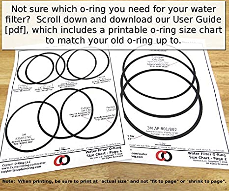 captain o ring culligan or 150 replacement water filter housing Men's Ring Size Guide captain o ring culligan or 150 replacement water filter housing oring gasket seal 3 pack amazon industrial scientific