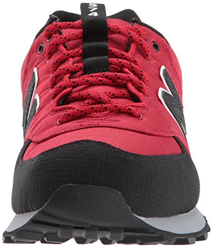New Balance Mens 574v1 Sneaker Tempo Red / Black