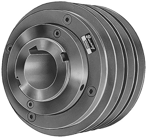 B Section Belt Cast Iron Sheave for A Finished Bore 4 Groove Browning 4MVP50B64X 1 5//8 Variable Speed Sheave Variable Pitch