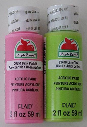 Apple Barrel Acrylic Paint Springtime Set - Pink and Green (2 Ounces Each) -  Plaid Enterprises Inc