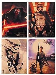Star Wars - The Force Awakens - Set of 4 Portfolio 2 Pocket School Folders - Kylo Ren, Rei, Captain Plasma, Stormtrooper