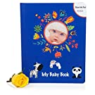 DELUXE BABY BOOK w/ INK PAD No Mess & Keepsake Pockets - Baby Memory Book /Journal - Perfect Gifts for Newborn Boys & Girls