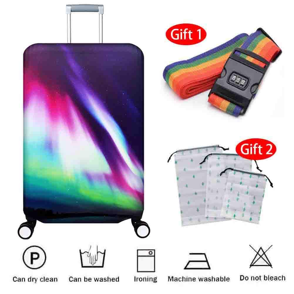 Suitcase Cover Polyester Spandex Thickening Anti-Wear Home Waterproof Dust Cover Pull Bar Box Anti-Theft Travel Protection Cover 18-32 Inches