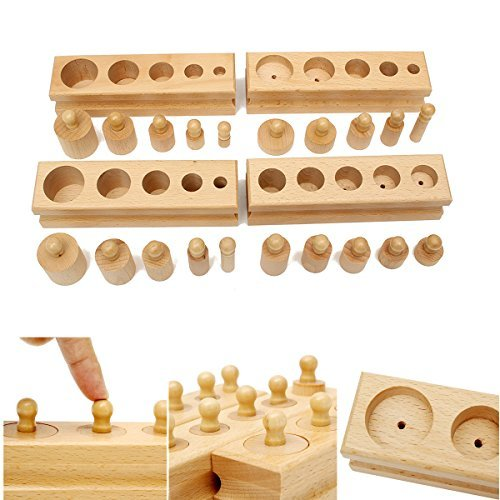 - Piston Chamber Stymie - Knobbed Cylinder Block Family Set Wooden Montessori Educational Toy - Interference City Pulley Close Pulley-Block Draw Blank Stoppage Auction Engine - 1PCs