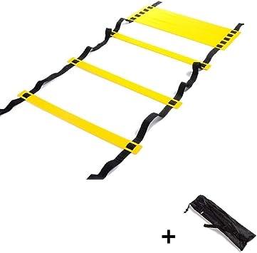 ZXJOY - Escaleras de entrenamiento de velocidad y agilidad, 15 m, 10 m, 6 m, color rojo y negro: Amazon.es: Deportes y aire libre