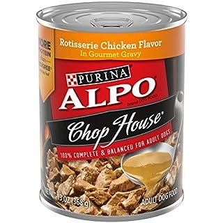 Purina ALPO Brand Dog Food Gravy Wet Dog Food, Chop House Rotisserie Chicken Flavor in Gravy - (12) 13 oz. Cans
