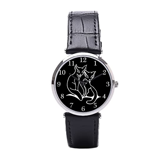 sjfy barato de cuero relojes extranjero gatos hermoso gatos correas de reloj de pulsera: Amazon.es: Relojes