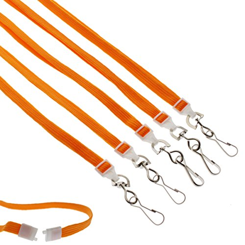 25 Pack - Premium Breakaway Lanyards for ID Badges - 3/8