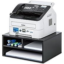 FITUEYES Wood Two-tier Black Printer/Fax Stands Workspace Organizers,Desk Organizer,DO204701WB