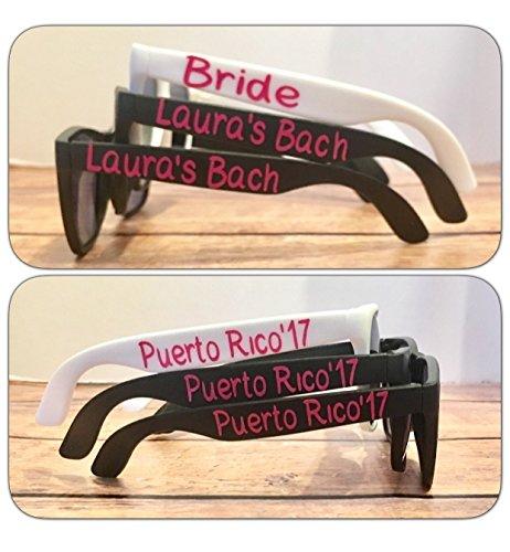 Set of 30 Personalized - Custom Sunglasses Wedding