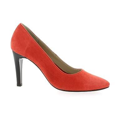 3e9409133e18 Pao Escarpins Cuir Velours Corail  Amazon.fr  Chaussures et Sacs