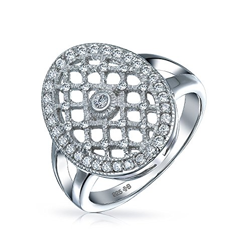 Interwoven CZ Engagement Ring Sterling Silver by Bling Jewelry (Image #1)