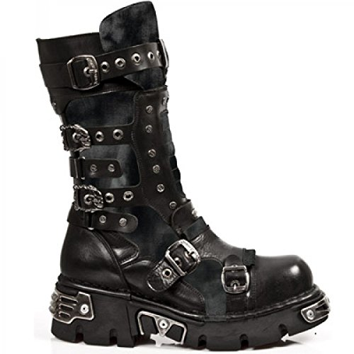 Nuovi Stivali Di Roccia M.1020-r3 Hardrock Punk Gotica Stiefel Unisex Schwarz