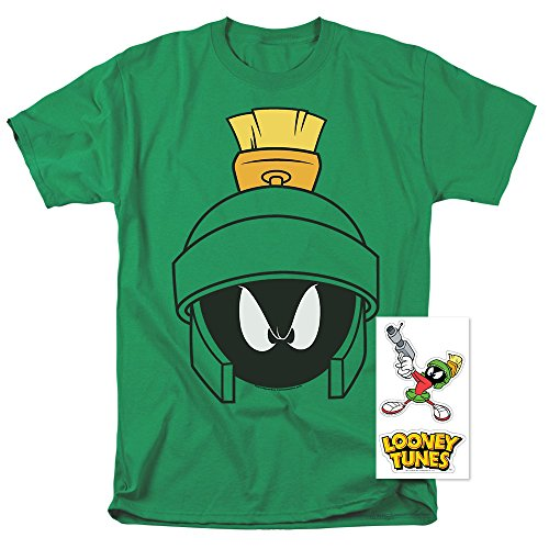 Popfunk Looney Tunes Marvin Helmet T Shirt & Exclusive Stickers (Medium)