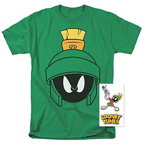 Popfunk Looney Tunes Marvin Helmet T Shirt & Exclusive Stickers (Small)