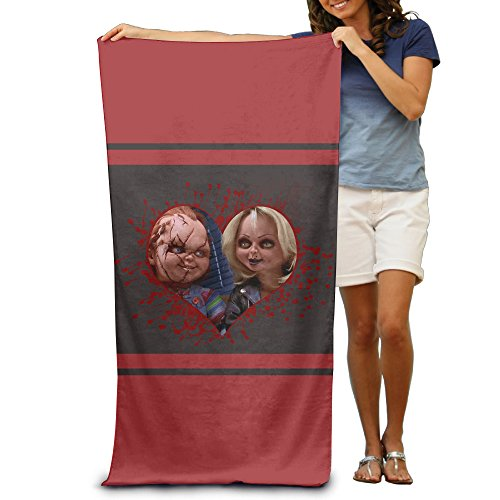 CHUCKY DOLL Bloody Pool Towel 30x50 Inch,Adult,Lightweight&Absorbent - Best Ghostface Costume