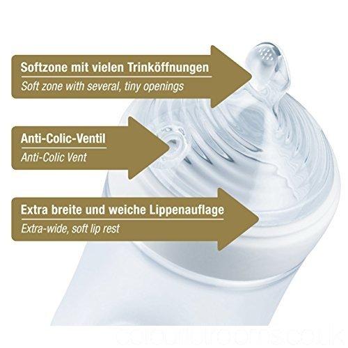 NUK Nature Sense Silicone Medium Flow Wide-Neck Bottle Teats 6-18m BPA Free