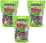 VitaKraft Small Animal Nibble Rings Treats - 3 PACK