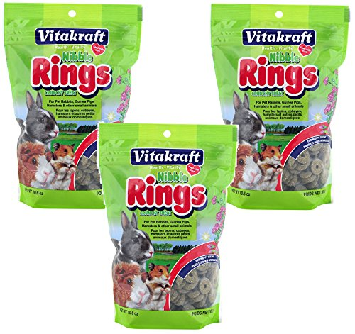 VitaKraft Small Animal Nibble Rings Treats - 3 (Vitakraft Small Animal)