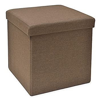 Miraculous Amazon Com Studio 3B Folding Storage Ottoman With Tray In Pabps2019 Chair Design Images Pabps2019Com