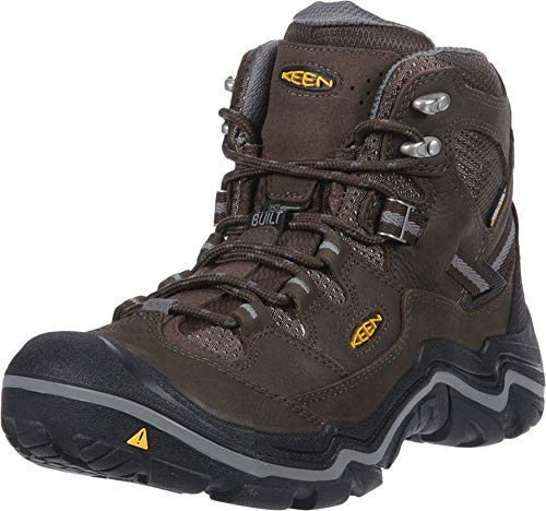 KEEN Men's Durand Mid Waterproof Hiking Boot,Cascade Brown/Gargoyle,10.5 M -