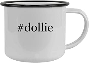 #dollie - 12oz Hashtag Camping Mug Stainless Steel, Black