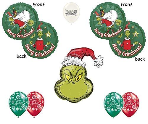 Grinch Christmas Party - Dr. Seuss How the Grinch Stole Christmas Party Decoration Balloon Bouquet Bundle