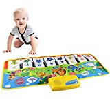 zoordo Touch Play Keyboard, Music Singing Gym Carpet Mat for Baby Toddler Piano Keyboard Floor Mat Carpet Funny Play Blanket for Kids Baby