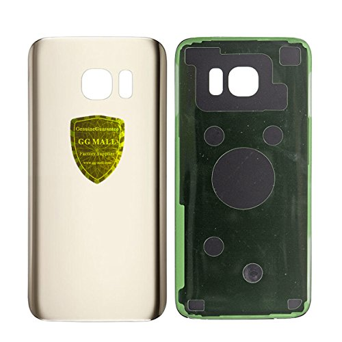 GG MALL Back Glass Battery Door Housing Replacement For Samsung Galaxy S7 All Models Rear Glass Cover with Adhesive Pre-installed - Gold