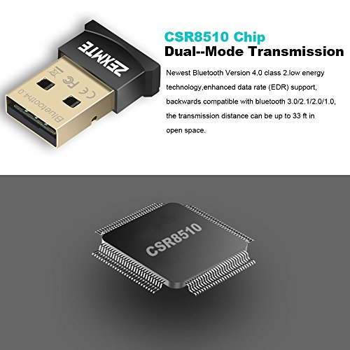 Large Product Image of Bluetooth USB Adapter CSR 4.0 USB Dongle Bluetooth Receiver Transfer Wireless Adapter for Laptop PC Support Windows 10/8/7/Vista/XP,Mouse and Keyboard,Headset