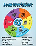 6S Lean Workplace Poster, 22' X 28', Made in The USA