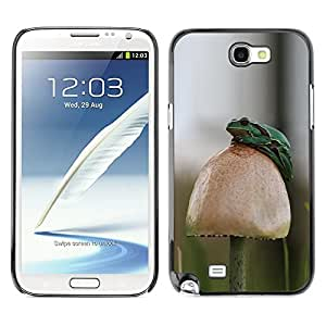 TopCaseStore / la caja del caucho duro de la cubierta de protección de la piel - Forest Mushroom Nature Green - Samsung Galaxy Note 2 N7100