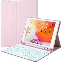 Funda con teclado para iPad 10.2 (7ª generación)- iPad Pro 10.5 (Air 3) - Retroiluminación de 7 colores, teclado…