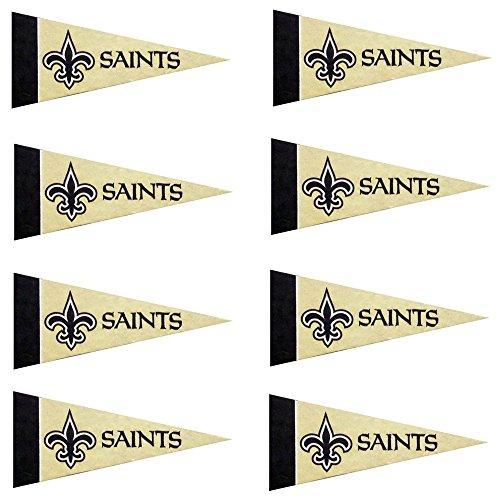 New Orleans Saints NFL Team Logo Home Office Bedroom Garage Decoration - Mini Pennant Set - 8PC (Saints Collectors New Orleans)