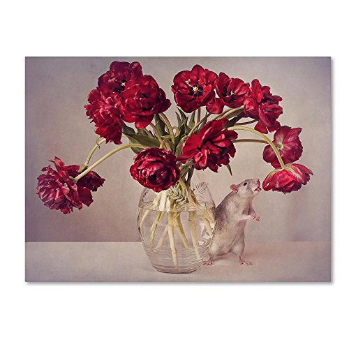 Still Life With Tulips by Ellen Van Deelen -flower Canvas Wall Art