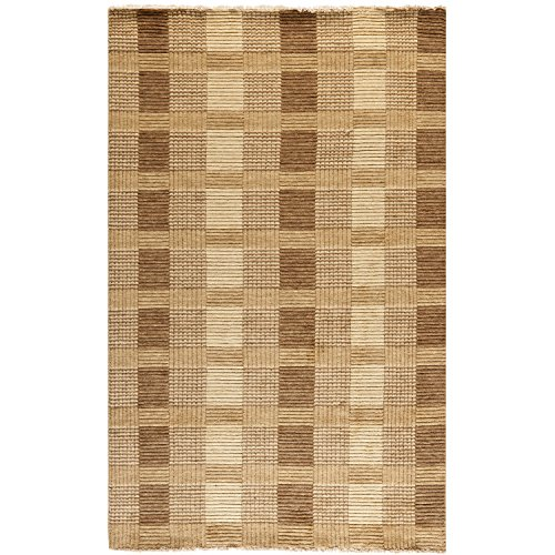 Safavieh Tibetan Collection TIB332C Hand-Knotted Brown Wool Area Rug (4' x 6')