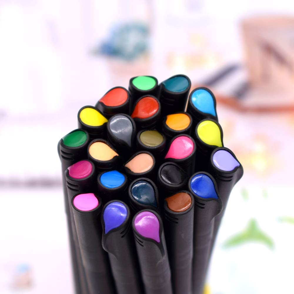 le dessin Stylos feutre de couleur /à pointe fine le coloration du calendrier 20420 Ensemble de Stylos Marqueurs Fineliner pour l/écriture de journal la prise de notes