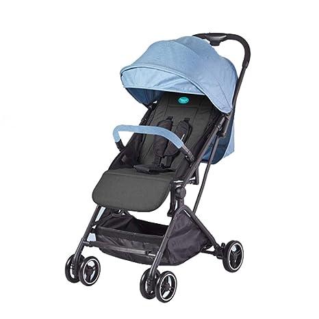 WYNZYYESTC Carro Plegable Para Bebés, Puede Sentarse Paraguas Ligero Reclinable Paraguas Plegable Con Cuatro Ruedas