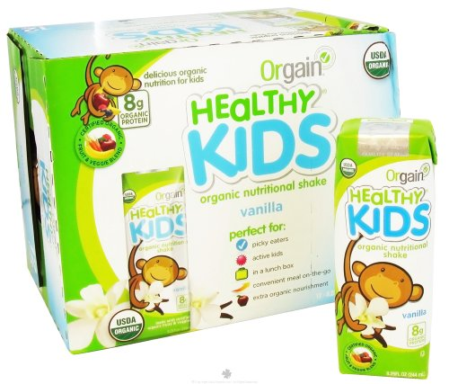 (Orgain - Healthy Kids Organic Ready To Drink Meal Replacement Vanilla - 12 Pack)