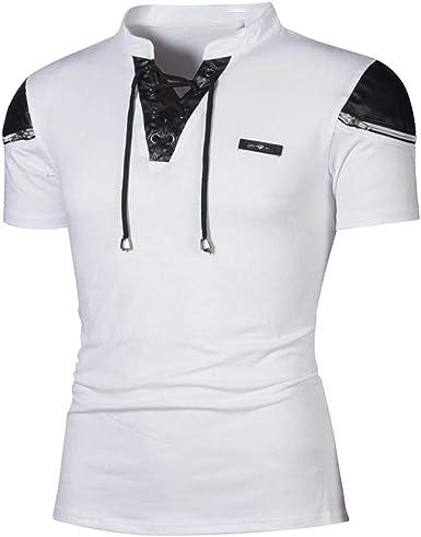 Camisas para Hombre De Correas Casual Modernas Verano ...