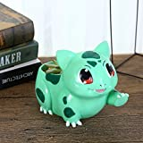 YOURNELO Resin Adorable Cartoon Bulbasaur Pokemon Flower Pot Succulent Planters Vase (Green)