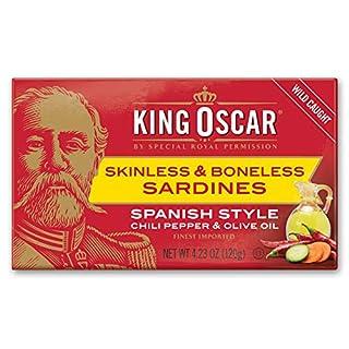 King Oscar Skinless & Boneless Sardines Spanish Style, 4.23 Oz (Pack of 12)