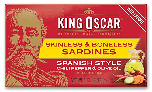 (King Oscar Skinless & Boneless Sardines Spanish Style, 4.23 Ounce (Pack of 12))