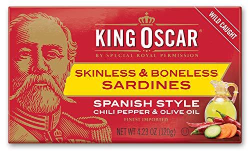 - King Oscar Skinless & Boneless Sardines Spanish Style, 4.23 Ounce (Pack of 12)