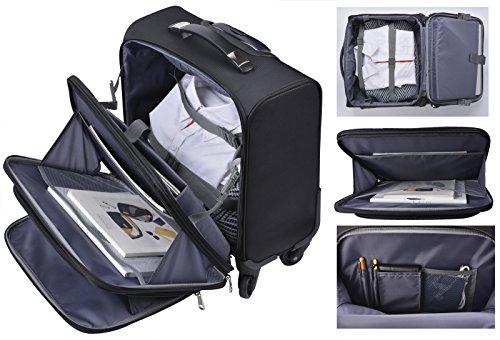 Rolling Laptop Case, COOFIT Nylon Rolling Laptop Briefcase Roller Laptop Bag by COOFIT (Image #3)