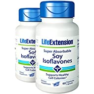 Life Extension - Super Absorbable Soy Isoflavone - 60 Caps (Pack of 2)