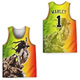 borizcustoms Bob Marley 01 Revolution Lion Portrait Basketball Jersey Dye Sub