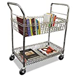 Alera Carry-All Mail Cart, 2-Shelf, 34-7/8w x 18d x